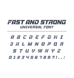 fast and strong high speed universal font sport vector image