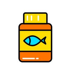 fish oil icon or logo design vector image