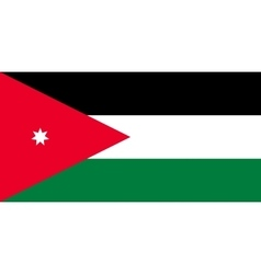 Flag of Jordan in correct proportions and colors vector image
