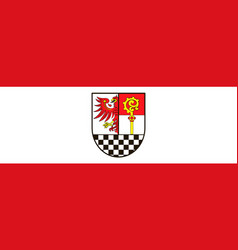 Flag of teltow-flaeming in brandenburg germany vector