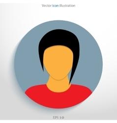 Flat avatar icon vector image