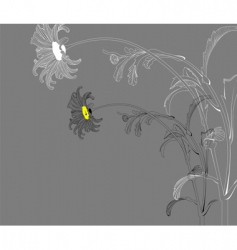 Floral background with chamomile vector