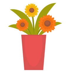 Flowers in a vase vector