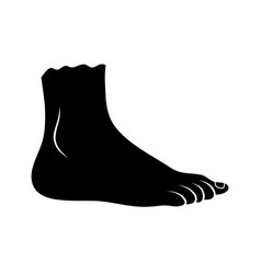 foot icon silhouette design isolated on white vector image