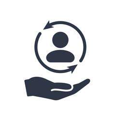 full customer care service - minimal icon vector image