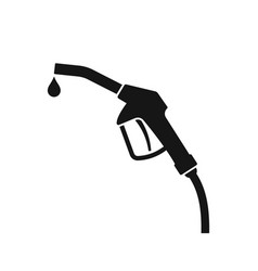 gas station icon isolated vector image