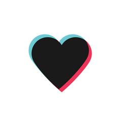 glitch heart like icon social media symbol vector image