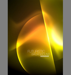 glowing neon circles abstract background vector image
