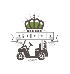 golf logo best est 1978 retro label for golf vector image