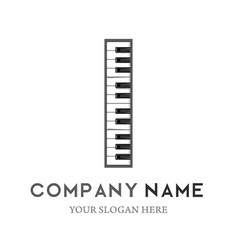 h letter logo design piano keyboard logo vector image
