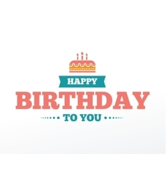 Happy Birthday typographic set design vector