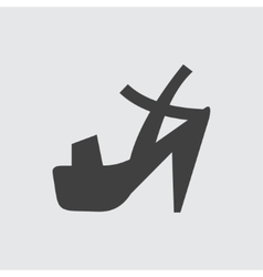 Heeled sandal icon vector