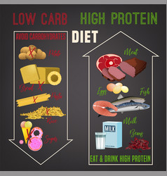 High protein diet vector