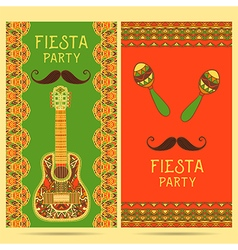 invitation for fiesta festival vector image