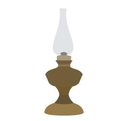 Isolated retro lamp vector
