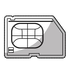 Isolated sim card device design vector