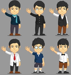 Man Cartoon Character Set vector image