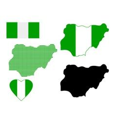 Map of Nigeria vector