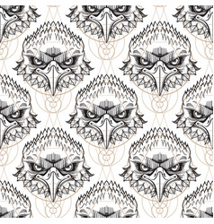 Muzzle of the eagle seamless pattern for the vector