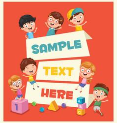 of children banner vector image