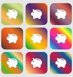Piggy bank - saving money icon vector