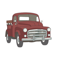 red classic car clipping art good for cutting vector image
