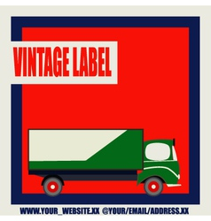 Retro Van Label vector image