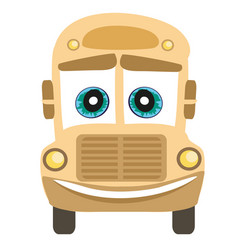 School bus cartoon character vector