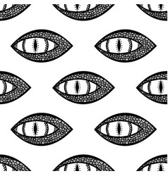 Seamless pattern with dragon or snake eye black vector