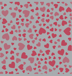 seamless pattern with hearts pink hearts vector image vector image