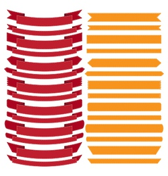 set old ribbon banner eps10 vector image