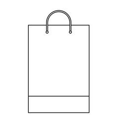 Shopping bag template sample business stationery vector