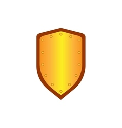Sign shield gold 1205 vector image