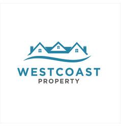 simple home logo design idea vector image