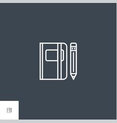 Sketchbook thin line icon vector
