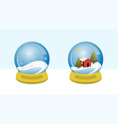 snow globe villa vector image