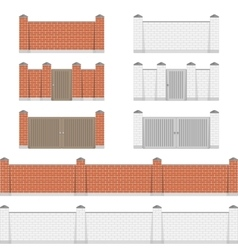 Stone bricks fence vector image