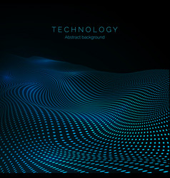surface digital wave data flow technology vector image