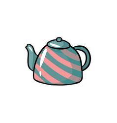 teapot cute colorful doodle hand drawn cartoon vector image