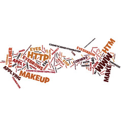 The art of make up text background word cloud vector
