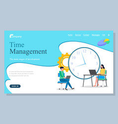 Time management successful administration vector