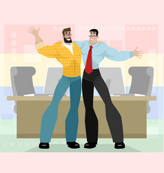 two friendly business partners vector image