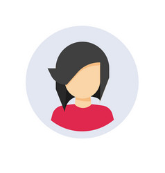User profile or my account avatar login icon with vector