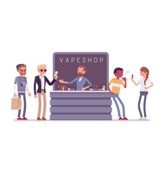 vape shop business store vector image
