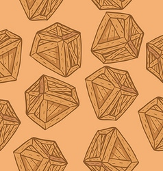 Wooden box pattern vector