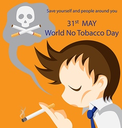 World No Tobacco Day vector image