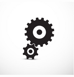 cogs gears icons isolated vector image vector image