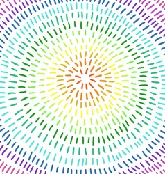 Colorful circle Art Abstract Background rainbow vector image