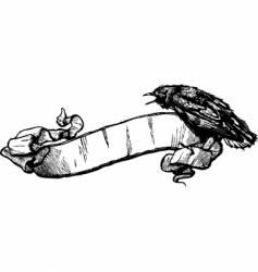 Crow banner illustration vector