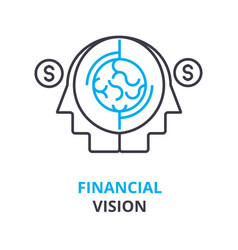 financial vision concept outline icon linear vector image